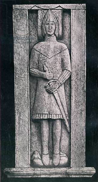 The Burke Effigy, Glinsk, County Galway Ireland  Burke family tradition believed that the effigy was a likeness of William (conquerer) DeBurgh - the first DeBurge (Burke) to set foot in Ireland.