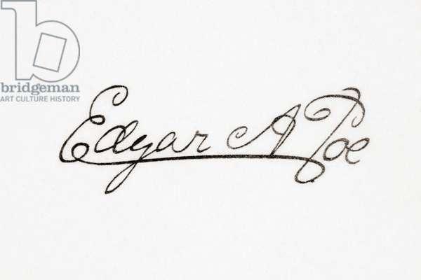 Signature of the American writer Edgar Allan Poe