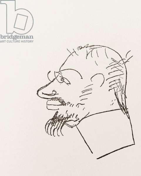 Henri Toulouse-Lautrec.  Self portrait.