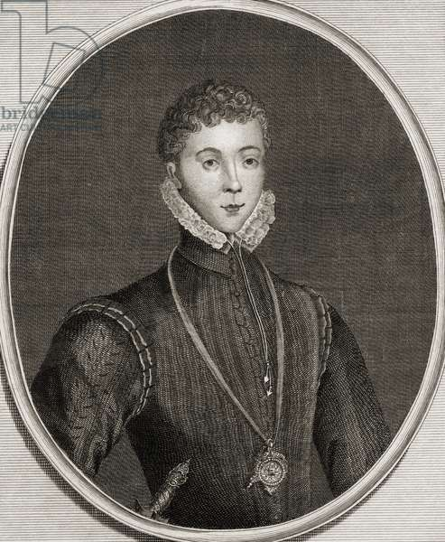 Portrait of Henry Stewart (1545-67) Lord Darnley (engraving)