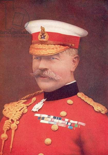 Horatio Herbert Kitchener, 1st Earl Kitchener, 1850-1916.  Irish-born British Field Marshal, from The Year 1916 Illustrated.