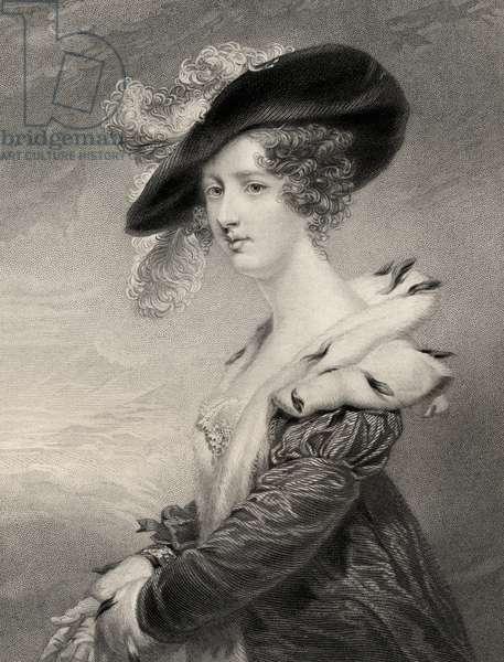 Georgiana (Howard), Lady Dover (litho)