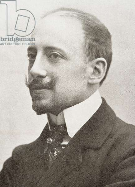 Gabriele d'Annunzio (1863-1938) (b/w photo)