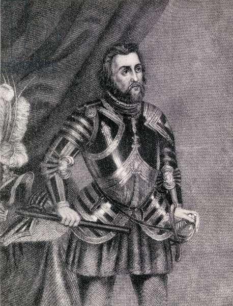 Hernan Cortes, Marques del valle de Oaxaca (1485-1547) (engraving)