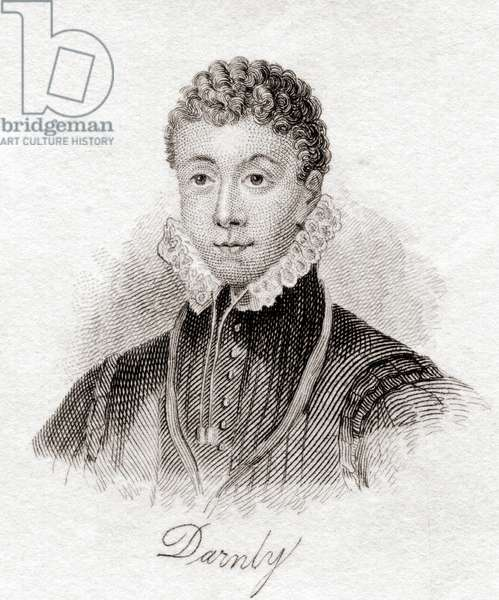 Henry Stewart also Stuart, Lord Darnley, from the book Crabbs Historical Dictionary pub. 1825