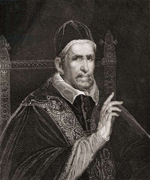 Pope Innocent X, 1574 -1655, born Giovanni Battista Pamphilj (or Pamphili).  From The History of the Popes, Their Church and State, published 1853.