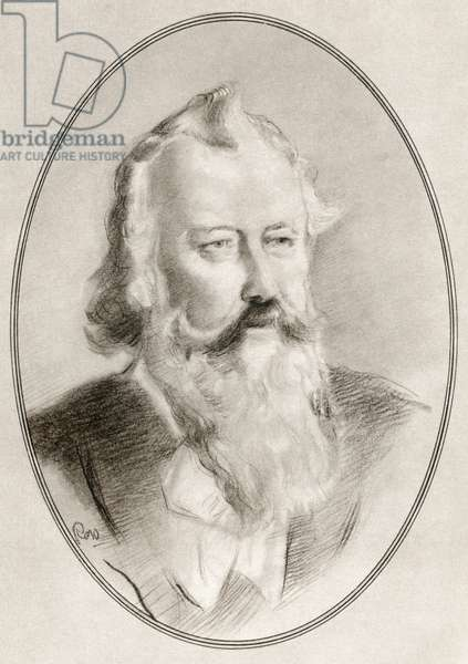Johannes Brahms, from Living Biographies of Great Composers