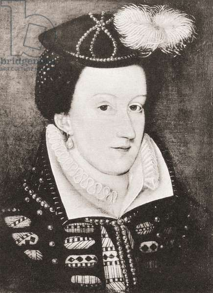 Mary, Queen of Scots (litho)