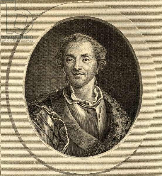Hermann Maurice (1696-1750) Comte de Saxe (engraving)