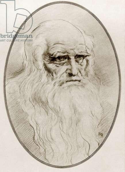 Leonardo di ser Piero da Vinci, from Living Biographies of Great Painters