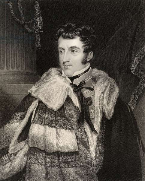 Charles Gordon Lennox, 5th Duke of Richmond, engraved by H. Cook from 'National Portrait Gallery, volume IV', published c.1835 (litho)