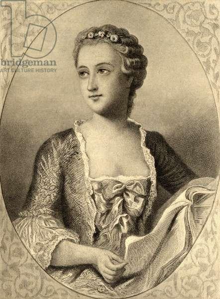 Madame de Pompadour (1721-64) (litho)