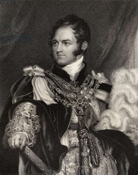 Leopold George Chretien Frederic of Saxe-Coburg, engraved by J. Thomson, from 'National Portrait Gallery, volume III', published c.1835 (litho)
