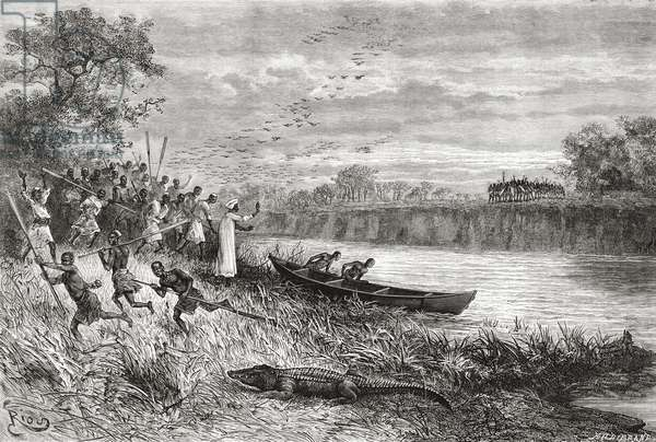The Ruaha River, Tanzania, from 'Africa Pintoresca', published 1888 (litho)