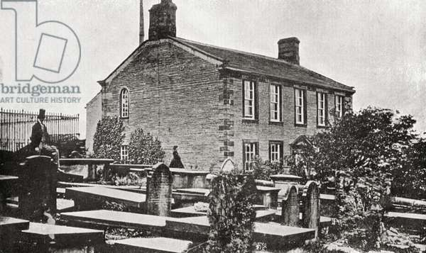 The home of Charlotte Bronte, 1816-1855. Haworth Parsonage, Haworth, Yorkshire, England