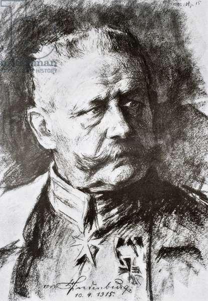 General Paul von Hindenburg (litho)