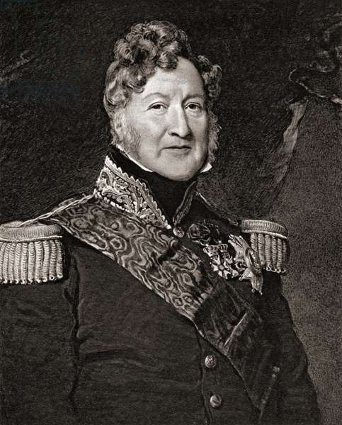 """Louis Philippe, 1773-1850. Duke of Orleans, Duke of Chartres, king of the French in 1841 (1830-1848)  From the book """"The Letters of Queen Victoria 1844-1853 Vol II""""published 1907."""