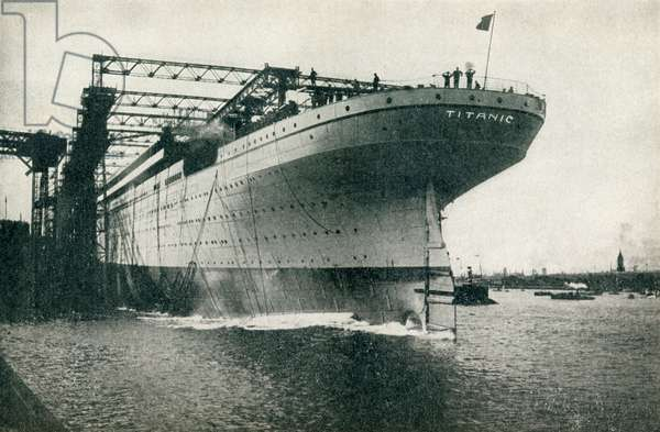 Launching of the RMS Titanic of the White Star Line at the Harland and Wolff shipyards, Belfast on 31 May, 1911.