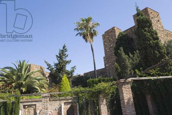Patio de Armas in the Alcazaba, Malaga, Costa del Sol (photo)