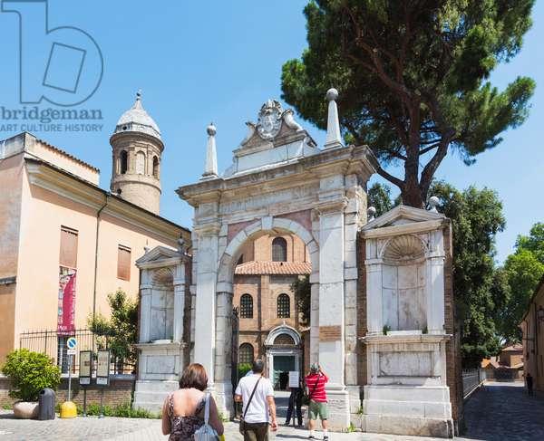Entrance to San Vitale, Ravenna, Italy