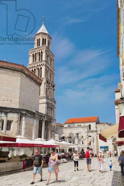 Bell tower of Saint Domnius cathedral, Split, Dalmatian Coast, Croatia (photo)
