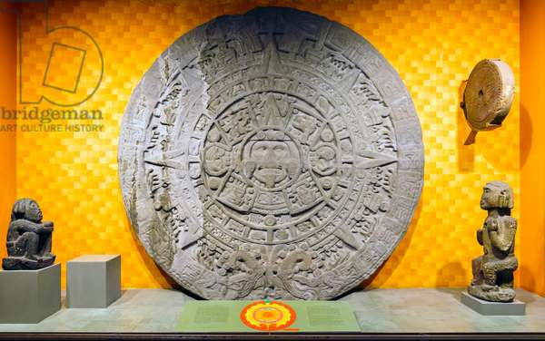 Aztec Stone of the Sun. Calendar Stone.
