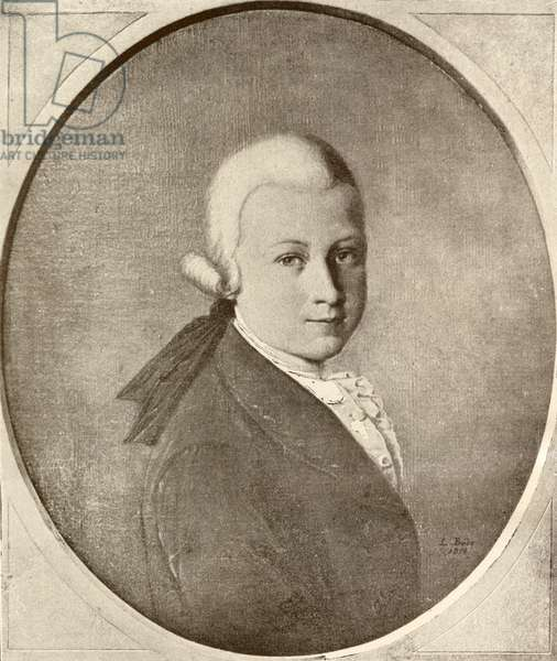 Wolfgang Amadeus Mozart, 1756 - 1791. Austrian composer and musician as a child. From Mozart, published 1935