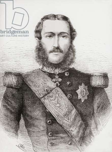 Leopold II,  1835 – 1909.  Second king of the Belgians.  From L'Univers Illustre published 1866.