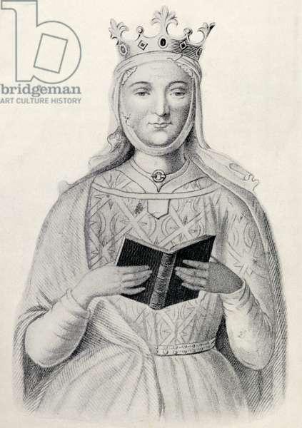 Eleanor of Aquitaine (litho)