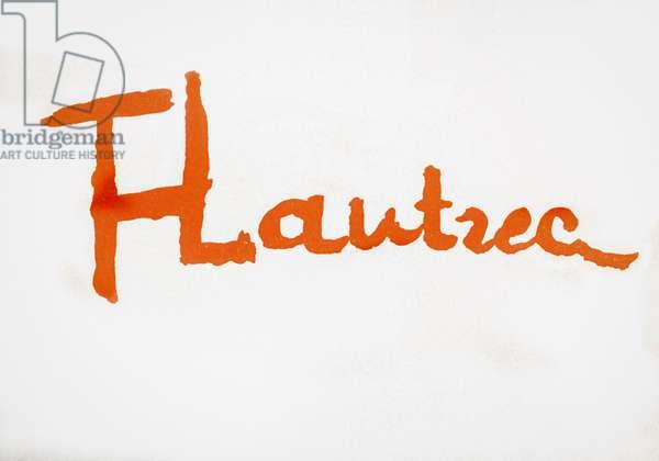 Henri Toulouse-Lautrec.  Signature.