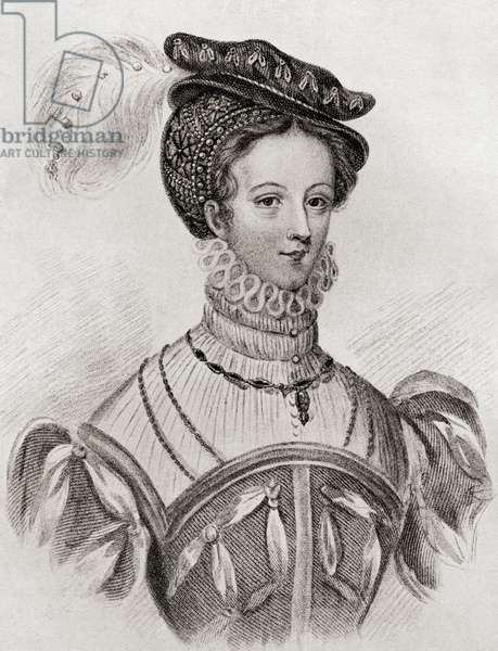 Mary, Queen of Scots, aged 16, from The Girl Through the Ages, published 1933 (litho)