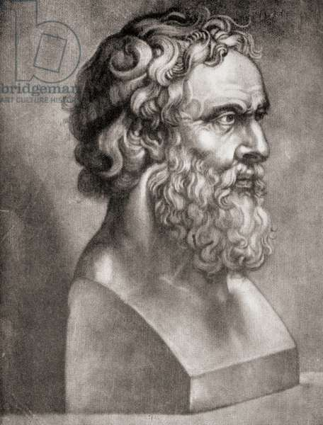 Plato, from The Story of Philosophy, published 1926 (litho)