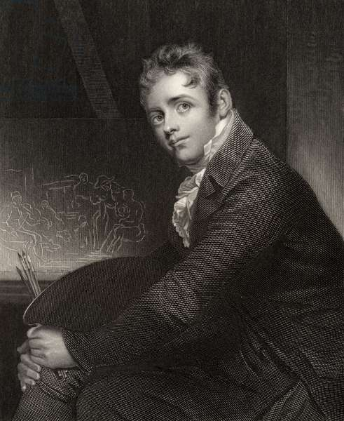 Sir David Wilkie, engraved by H. Robinson, from 'National Portrait Gallery, volume V', published c.1835 (litho)