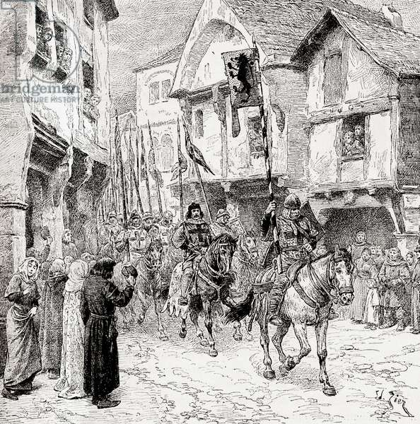 Crusaders en route for the Holy Land
