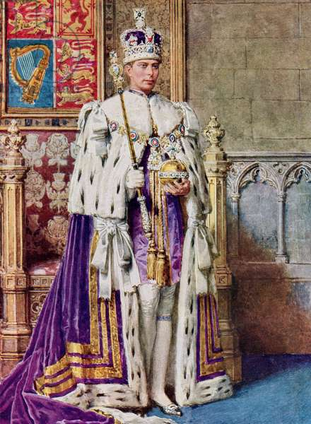 George VI in coronation robes, 1936., from The Coronation Book of King George VI and Queen Elizabeth, pub.1937