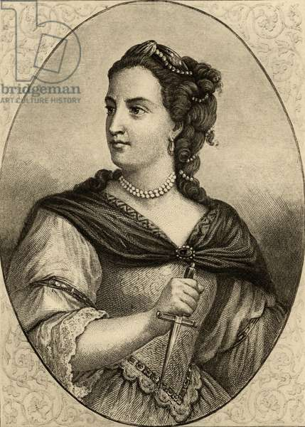 Mademoiselle Clairon (1723-1803) (litho)