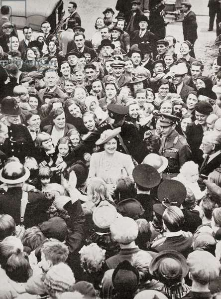 King George VI and Queen Elizabeth in 1941 visiting Bermondsey, a much bombed London borough during WWII (photo)