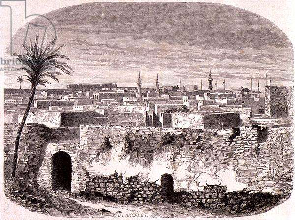 Tripoli in the 1850s, Libya, from 'Le Tour du Monde', published in Paris, 1860s (engraving)