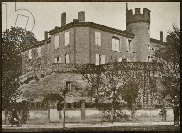 The house in Albi where Toulouse-Lautrec was born, from 'Toulouse-Lautrec' by Gerstle Mack, published 1938 (b/w photo)