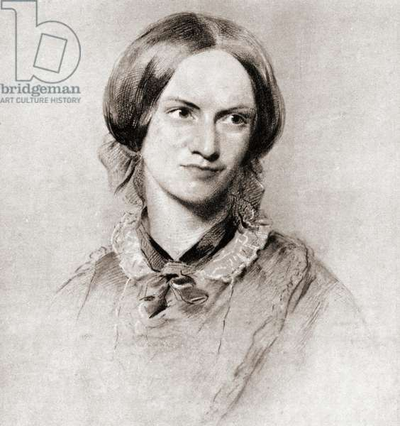 Charlotte Brontë, 1816 –1855.  English novelist and poet. After the drawing by George Richmond.  From Impressions of English Literature, published 1944.