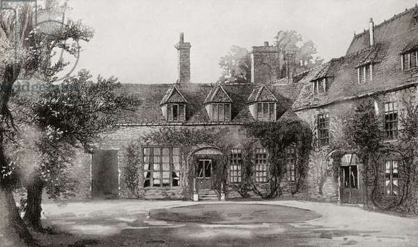 Frewen Hall, Oxford, England. Residence of Albert Edward, Prince of Wales, 1841 – 1910, future King Edward VII,  whilst a student at Oxford University. From Edward VII His Life and Times, published 1910.
