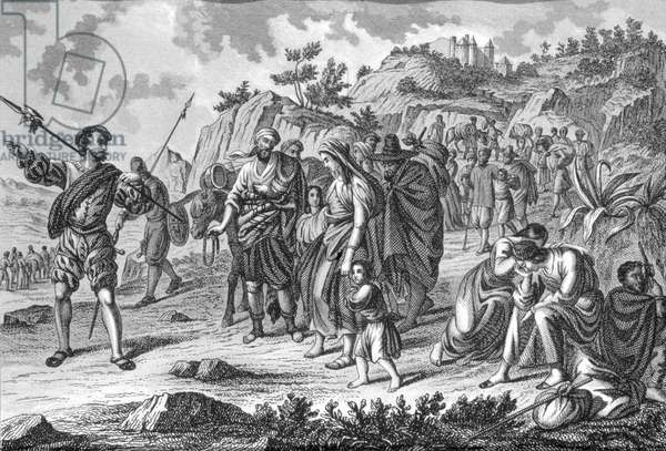Expulsion of the Moorish from Spain, beginning 1609 (engraving)