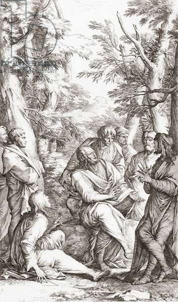 Plato with students in his Acadamy