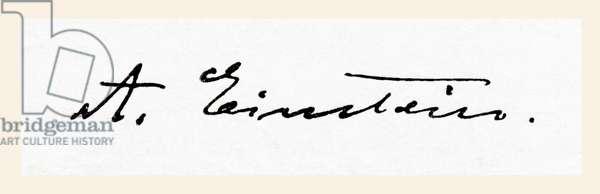 Signature of Albert Einstein, from Meyers Lexicon, pub. 1924