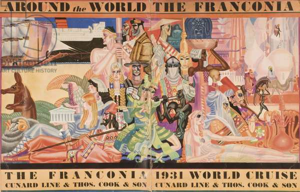 Cunard Line promotional brochure for the 'Franconia', 1931 (colour litho) (see also 243572 & 243574 for details)