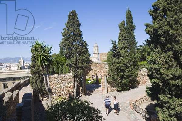 Gardens in the Alcazaba, Malaga, Costa del Sol (photo)
