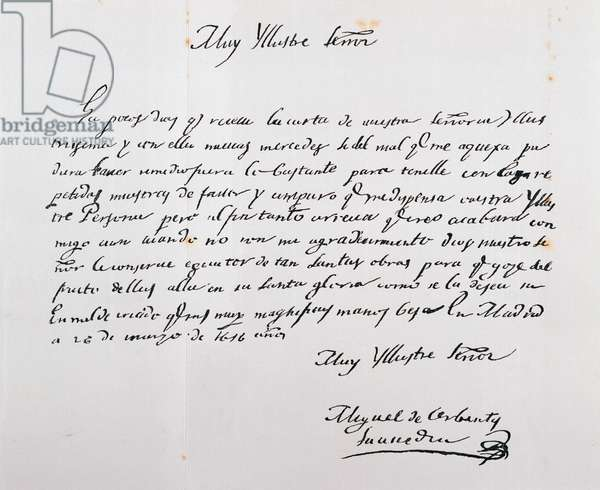 Letter written to Archbishop of Toledo, March 26, 1616 (ink on paper)