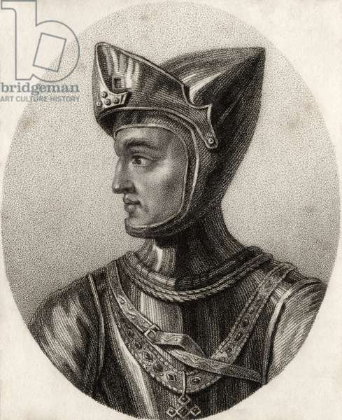 Henry of Grosmont, Duke of Lancaster, from 'A Catalogue of the Royal and Noble Authors', published 1806 (litho)