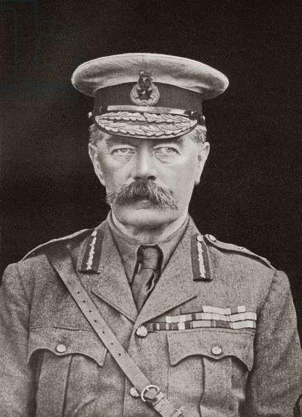 Field Marshal Horatio Herbert Kitchener, 1st Earl Kitchener, Irish-born British Field Marshal, from The Year 1916 Illustrated