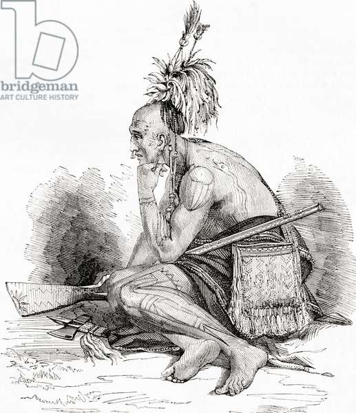 A Canadian Indian in the 18th century.